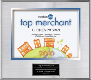 Choices Pet Sitters - Top Merchant Plaque